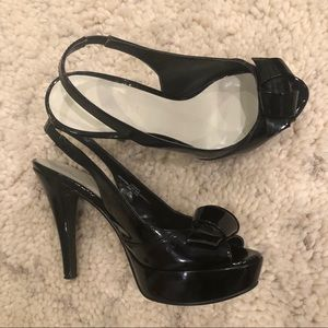 Nine West patent leather platforms